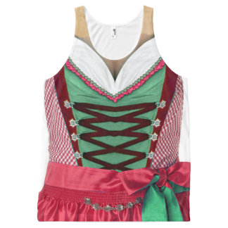 Bavarian Dirndl All-Over-Print Tank Top