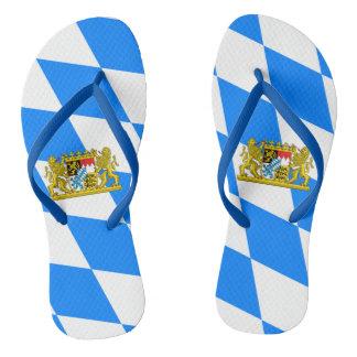 Bavarian flag flip flops