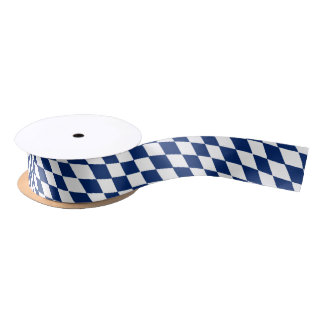 Bavarian flag ribbon satin ribbon