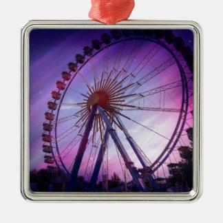 Bavarian folk festival Silver-Colored square ornament