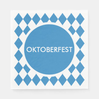 Bavarian Geometric Pattern for Oktoberfest. Disposable Napkin