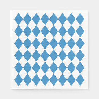 Bavarian Geometric Pattern for Oktoberfest. Disposable Napkins