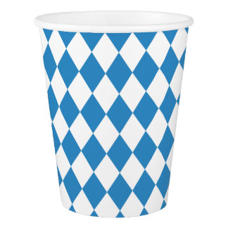 Bavarian Geometric Pattern for Oktoberfest. Paper Cup