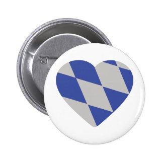 bavarian heart icon 2 inch round button