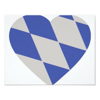 "bavarian heart icon 4.25"" x 5.5"" invitation card"