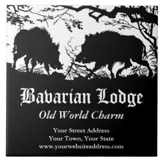 Bavarian Hunter Wild Boar German Custom Trivet