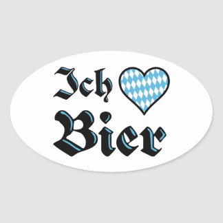 Bavarian I Love Beer Stickers
