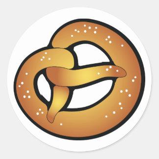 bavarian pretzel classic round sticker
