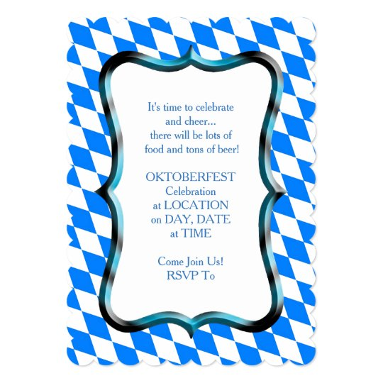 Bavarian Style Oktoberfest Party Invitation