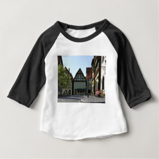 Bavarian Town Street Corner Scene Baby T-Shirt