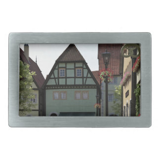 Bavarian Town Street Corner Scene Belt Buckle