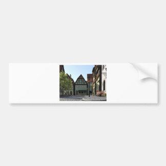 Bavarian Town Street Corner Scene Bumper Sticker