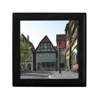 Bavarian Town Street Corner Scene Gift Box