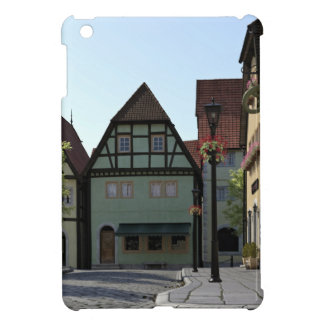 Bavarian Town Street Corner Scene iPad Mini Cover