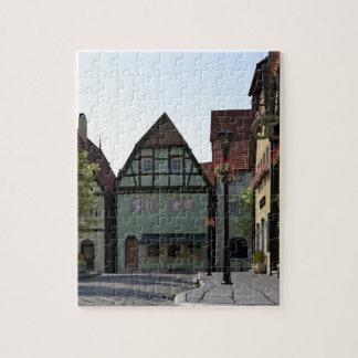 Bavarian Town Street Corner Scene Jigsaw Puzzle