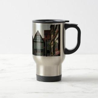 Bavarian Town Street Corner Scene Travel Mug