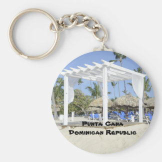 Bavaro Beach on the island of Punta Cana Basic Round Button Keychain