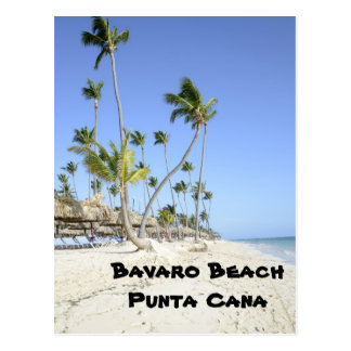 Bavaro Beach on the island of Punta Cana Postcard