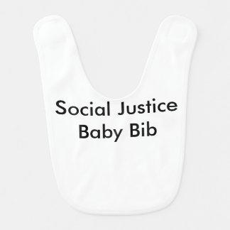 Bavoir de bébé de justice sociale