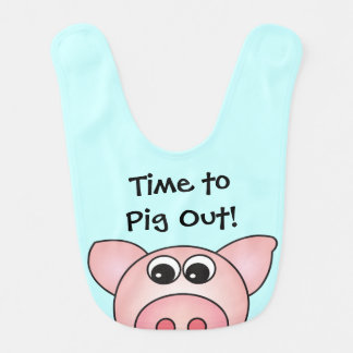 Bavoir mignon de bébé d'animal de ferme de porc