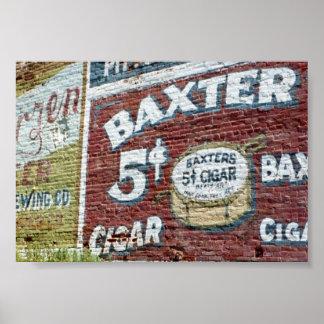 Baxter cigar ad poster