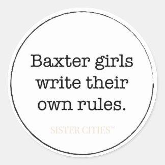 """""""Baxter Girls"""" Stickers - 6 pk"""