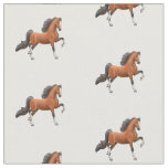Bay American Saddlebred Horse Fabric