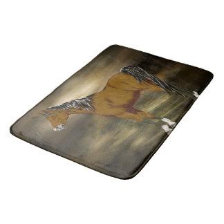 Bay Arabian Horse Print Bath Mat