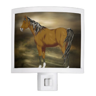 Bay Arabian Horse Print Nite Light
