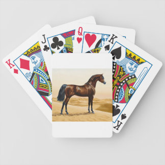 Bay Arabian Stallion Bicycle Playing Cards