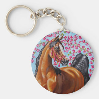 bay Arabian with blossoms Keychain