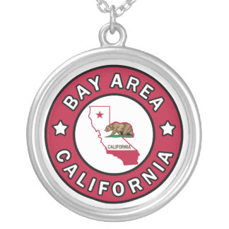 Bay Area California Silver Plated Necklace