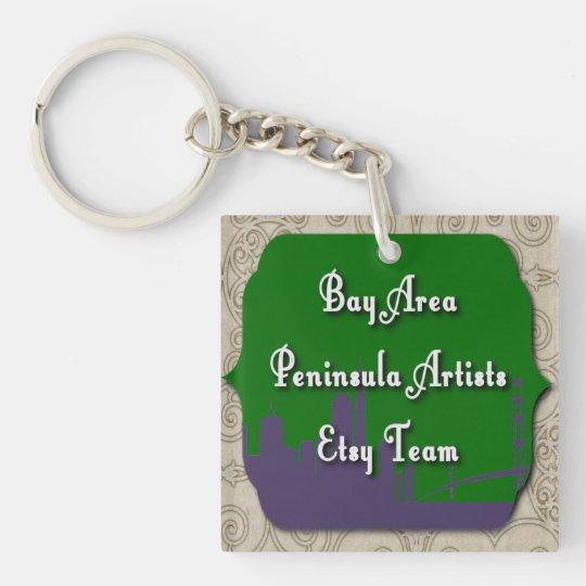 Bay Area Peninsula Artists Team Keychain
