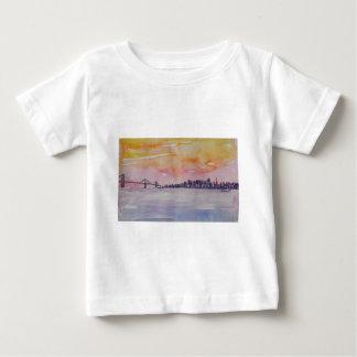 Bay Area Skyline San Francisco With Oakland Bridge Baby T-Shirt