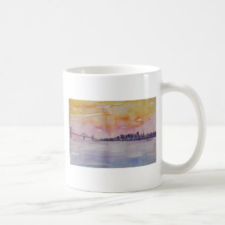 Bay Area Skyline San Francisco With Oakland Bridge Coffee Mug
