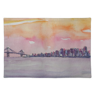 Bay Area Skyline San Francisco With Oakland Bridge Placemat