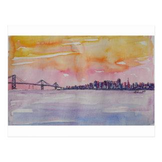 Bay Area Skyline San Francisco With Oakland Bridge Postcard
