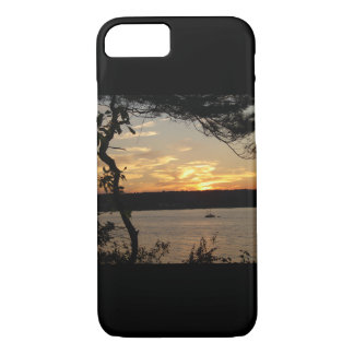 bay at sunset iphone case