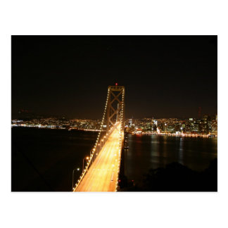 Bay Bridge at Night Postcard