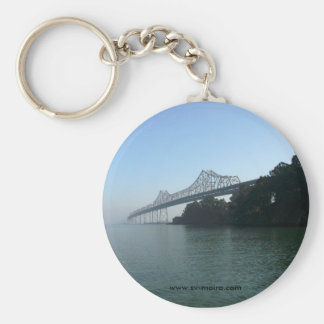 Bay Bridge from Clipper Cove, San Francisco, CA Keychain