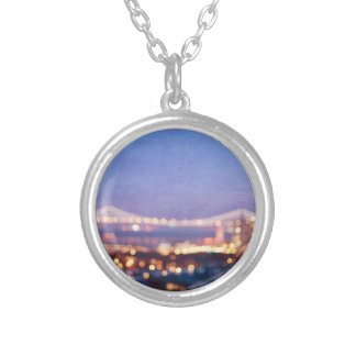 Bay Bridge Glow San Francisco Photo Necklace