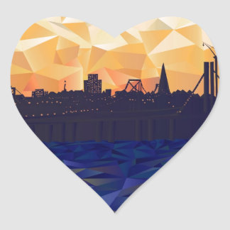 Bay Bridge Heart Sticker