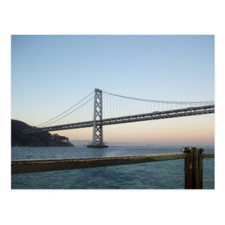 Bay Bridge SF California Postcard