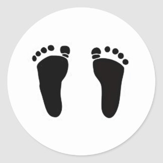 bay feet Cards and invitations Round Sticker