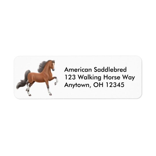 Bay Gaited Horse Label
