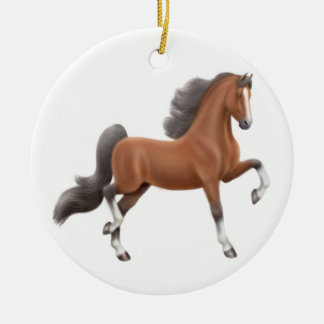 Bay Gaited Horse Ornament