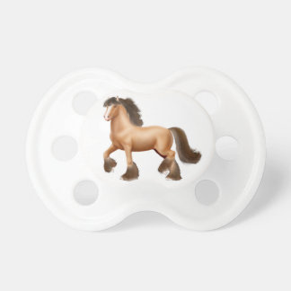 Bay Gypsy Draft Horse Baby Pacifier