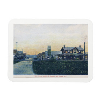 Bay Head, New Jersey, Main St, Vintage Magnet