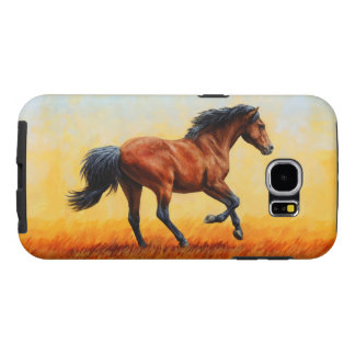 Bay Horse Galloping Samsung Galaxy S6 Cases