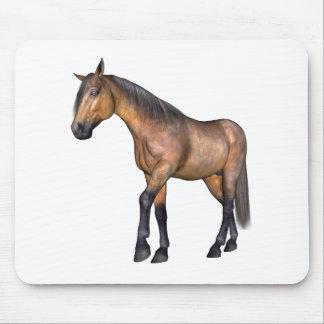 Bay Horse Walking Mouse Pad